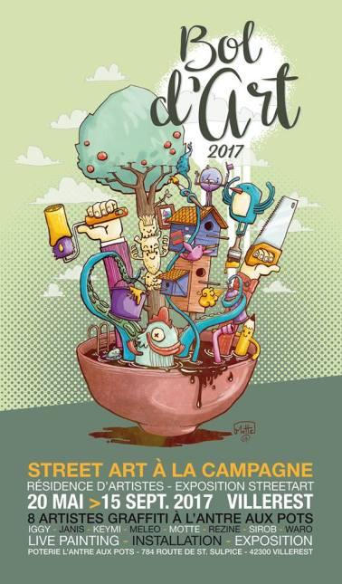 affiche bol d'art - l'antre aux pots - villerest