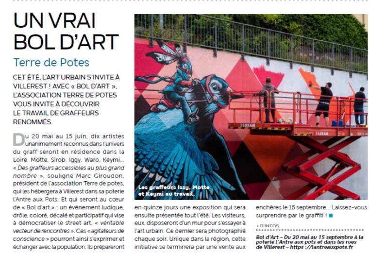 Revue de presse - Bol d'art - Villerest - Loire - Exposition - Graff